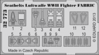 Seatbelts Luftwaffe WWII Fighter FABRIC