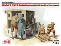Model T 1917 Ambulance with US Medical Personnel