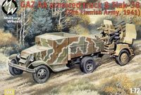 Military truck GAZ AA and Flak 38 Finnish
