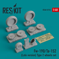Fw-190/Ta-152 (Late version) Type 2 wheels set - Image 1