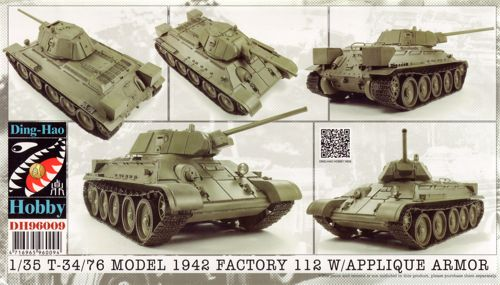 T34 76 model 1942 & applique armor ding hao hobby 96009