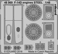 F-14D engines STEEL  TAMIYA