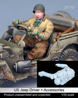 US Jeep Driver + accessories - Image 1