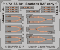 Seatbelts RAF early STEEL - Image 1