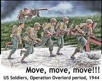 Move, move, move US Soldiers, Operation Overlord period, 1944 - Image 1