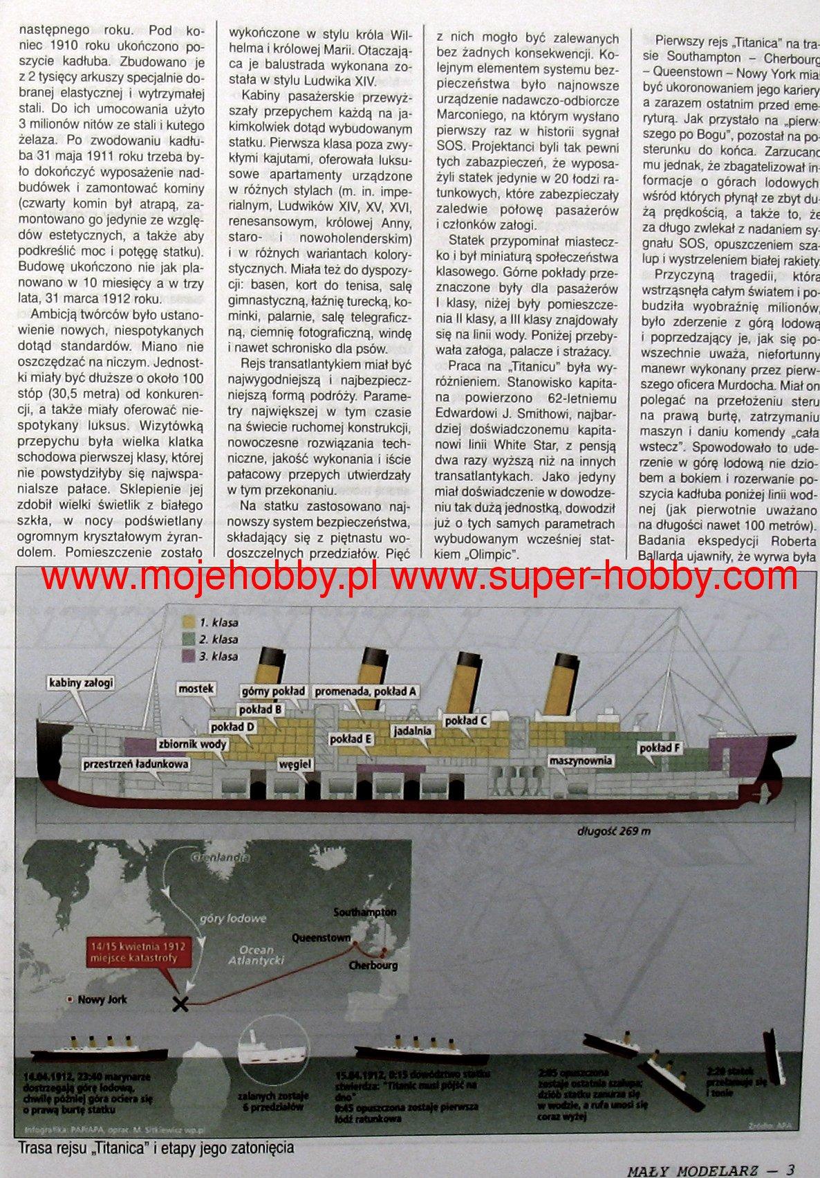 Transatlantyk Rms Titanic Czesc 1 Maly Modelarz 10 11 12 2010