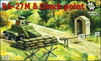 Soviet armoured car BA-27M and Checkpoint